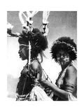Painted Warriors, Papua, New Guinea, 1936 Giclee Print by  Sport & General