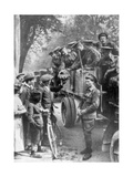 British Troops on the Way to the Front, France, 1914 Giclee Print