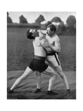 The Body Holt and Neck Double, Wrestling Display, Aldershot, Hampshire, 1896 Giclee Print by  Gregory & Co