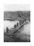 German Prisoners on a Duckboard Track at the Yser Canal, Belgium, 31 July 1917 Giclee Print