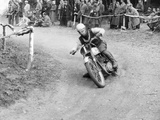 Gw Beamish on a Bsa 500Cc Motorbike, Brands Hatch, Kent, 1953 Photographic Print