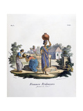 Brahmin Woman Collecting Water, 1828 Giclee Print by  Marlet et Cie