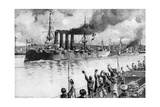Russian Cruiser on its Way to the Battle of Chemulpo, Russo-Japanese War, 1904-5 Giclee Print