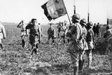 Field Marshal Sir Douglas Haig Saluting an Infantry Flag, Wwi, C1914-C1918 Photographic Print