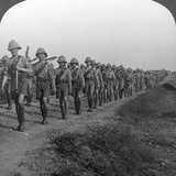 British Soldiers Marching Through the Desert to Baghdad, World War I, 1914-1918 Photographic Print
