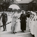 Her Majesty Walking Through the Guard of Honour of Nurses of Rn Hospital, Hull, 20th Century Photographic Print