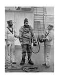 A Diver from the Battleship HMS 'Camperdown' in His Diver's Dress, 1896 Giclee Print by  Gregory & Co
