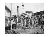 Loading Bananas, Port Antonio, Jamaica, C1905 Giclee Print by Adolphe & Son Duperly