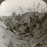 Observation Officer and Signallers Keep a Sharp Lookout, St Quentin, France, World War I, 1914-1918 Photographic Print