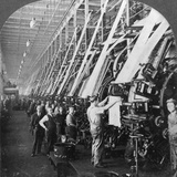 General View of a Large Printing Room in a Cotton Mill, Lawrence, Massachusetts, USA Photographic Print