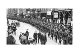 The Citizen Army of Territorials, Strand, London, First World War, 1914 Giclee Print