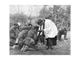 New Zealand Troops Taking Holy Communion, World War I Giclee Print