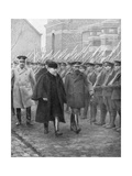 French President Raymond Poincare and King George V, December 1914 Giclee Print