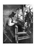 Woman Using a Loom, Sweden, 1936 Impression giclée