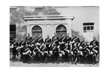 The Officers of the 1st Royal Dragoons, Island Bridge Barracks, Dublin, Ireland, 1896 Giclee Print by  J & Son Robinson
