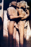 Erotic Sculpture, Hindu Temple, Khajuraho, India, 950-1050 Photographic Print