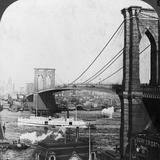 Brooklyn Bridge, New York, USA, Early 20th Century Photographic Print by  Underwood & Underwood