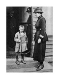An East End Child and a Policewoman, London, 1926-1927 Giclee Print