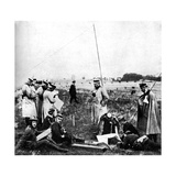 Company of German Scouts Receiving Telephone Instructions, First World War, 1914 Giclee Print