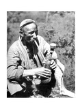 Uzbek Man Smoking Calian, Samarkand, 1936 Giclee Print