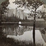 Mirror View of Cathedral Rocks, Yosemite Valley, California, USA, 1902 Photographic Print