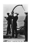 Cadets 'Shooting the Sun, Royal Navy College, 1937 Giclee Print