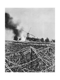 Bombardment of a Windmill with Incendiary Shells, Artois, France, World War I, 1915 Giclee Print