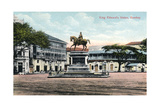 King Edward's Statue, Bombay, India, Early 20th Century Giclee Print