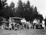 A Group of People on an Outing with their Cars, C1929-C1930 Photographic Print