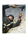 A German Soldier Cutting Through Barbed Wire During an Assalt, 1942 Giclee Print