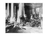 Damage to the Interior of Douai Church, France, 1918 Giclee Print