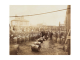 Ebano Bitumen Stored at Elizabeth Wharf, Limehouse, London, C1900 Photographic Print
