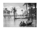 The Pyramids of Giza During a Flood, Cairo, Egypt, C1920S Giclee Print