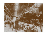Construction of the T-34 Tanks at the Kirov Factory in Chelyabinsk Giclee Print