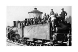 German Troops Travelling by Train to the Eastern Front, First World War, 1914 Giclee Print