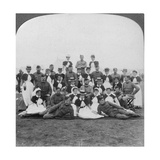 Medical Staff and Nurses of General Hospital No 9, Bloemfontein, South Africa, Boer War, 1901 Giclee Print by  Underwood & Underwood