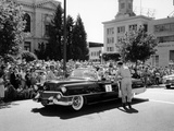Cadillac Convertible in a Street Parade, USA, (C1958) Photographic Print