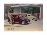Poster Advertising a Fiat 1100, 1940 Giclee Print