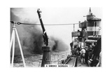 A Smoke Screen Laid Down by a Destroyer, 1937 Giclee Print