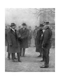 French President Raymond Poincare Meeting General Joseph Joffre, 1914 Giclee Print