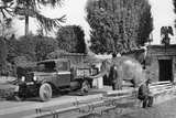 1934 Bedford 30Cwt WS Truck with an Elephant at Bristol Zoo, (C1934) Photographic Print