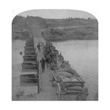 Pontoon Bridge across the Modder River, Boer War, South Africa, 1900 Giclee Print by  Underwood & Underwood