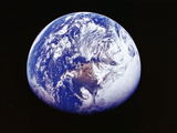 Earth from Space, Photographed by Spacecraft Apollo 16, April 16 1972 Reproduction photographique