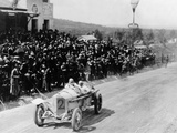 Christian Lautenschlager Passing the Tribunes, in the Targa Florio Race, Sicily, 1922 Photographic Print