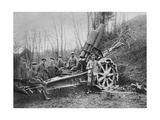 German Mortar at the Front, Predeal, Romania, World War I, 1916 Giclee Print