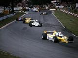 Rene Arnoux in the British Grand Prix, Brands Hatch, 1980 Fotografie-Druck
