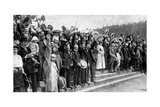 Crowds Cheering During the Outbreak of Hostilities, War Fever in Germany, First World War, 1914 Giclee Print