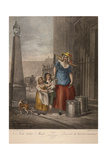 Milk Below Maids, Cries of London, C1870 Giclee Print by Francis Wheatley