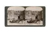 The Damascus Gate, the Nothern Entrance to Jerusalem, Palestine, 1896 Giclee Print by  Underwood & Underwood