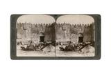 The Damascus Gate, the Nothern Entrance to Jerusalem, Palestine, 1896 Giclee Print by  Underwood & Underwood